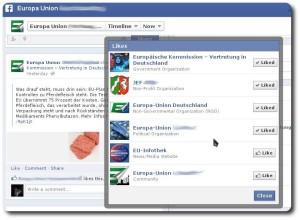 """""""Likes"""" der Fanpage"""