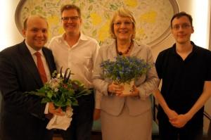 Manuel Sarrazin, Andreas Waldowski, Sabine Steppat und ich (v.l.n.r.).
