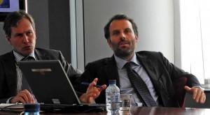 Frank Piplat (Leiter des Informationsbüro des EP in Deutschland) und Markus Warrasin.