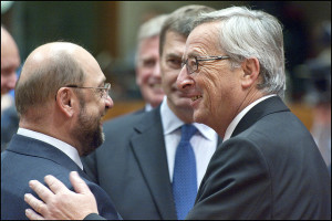 Schulz and Juncker [© European Union 2012 - European Parliament. (Attribution-NonCommercial-NoDerivs Creative Commons license)]